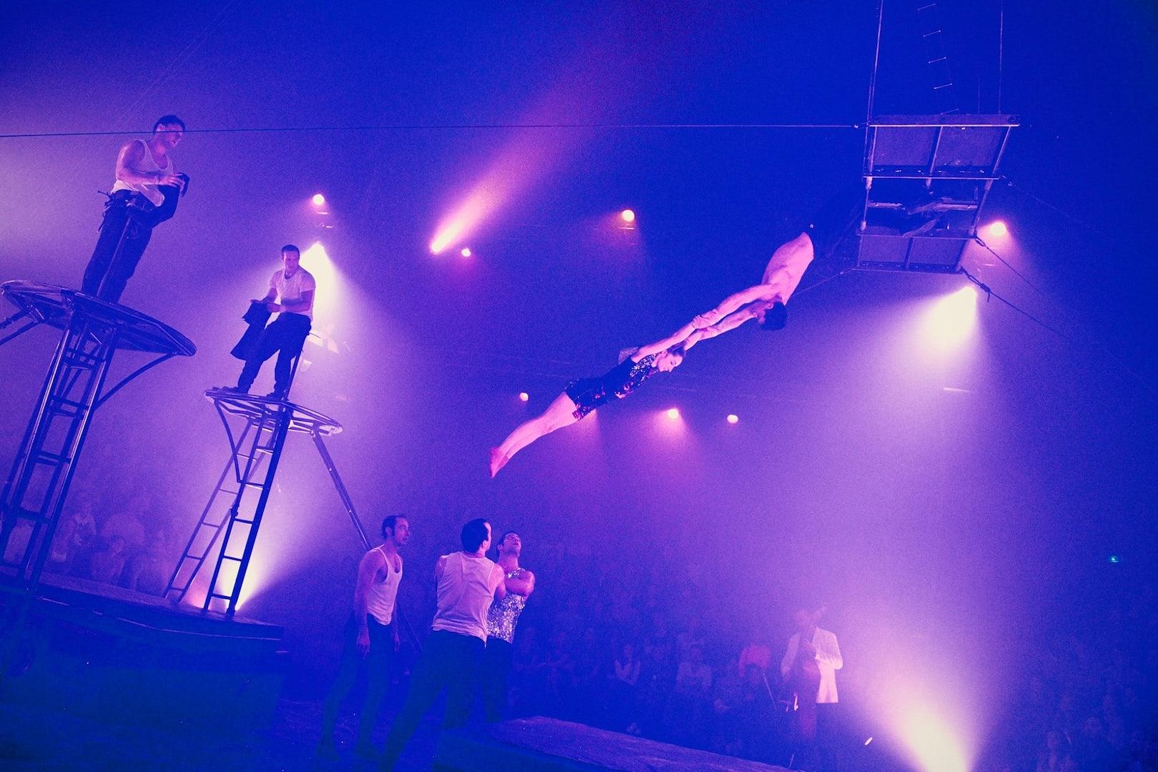 Prague - Letni Letna circus festival acrobats