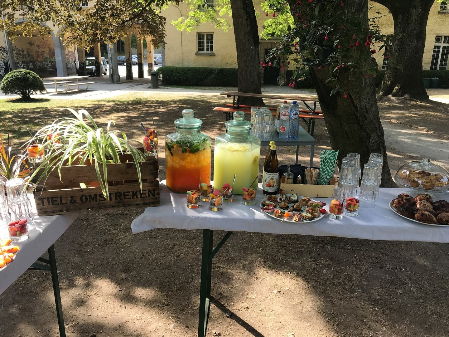 lemonade and snacks made by Bar Gisele