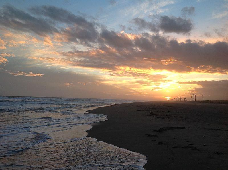 sunset at Playa del Prat