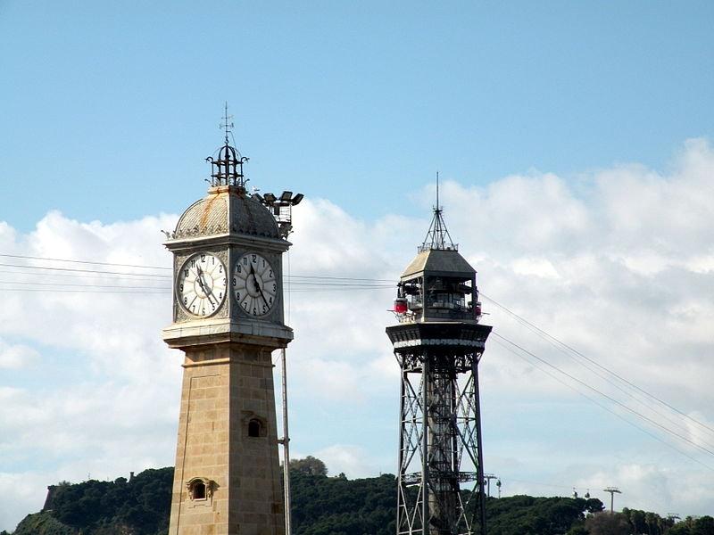 Torre del Reloj in Barcelona