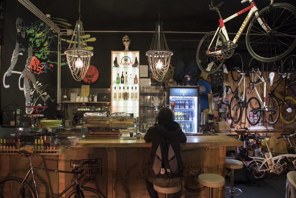 interior of Bike club in Barcelona