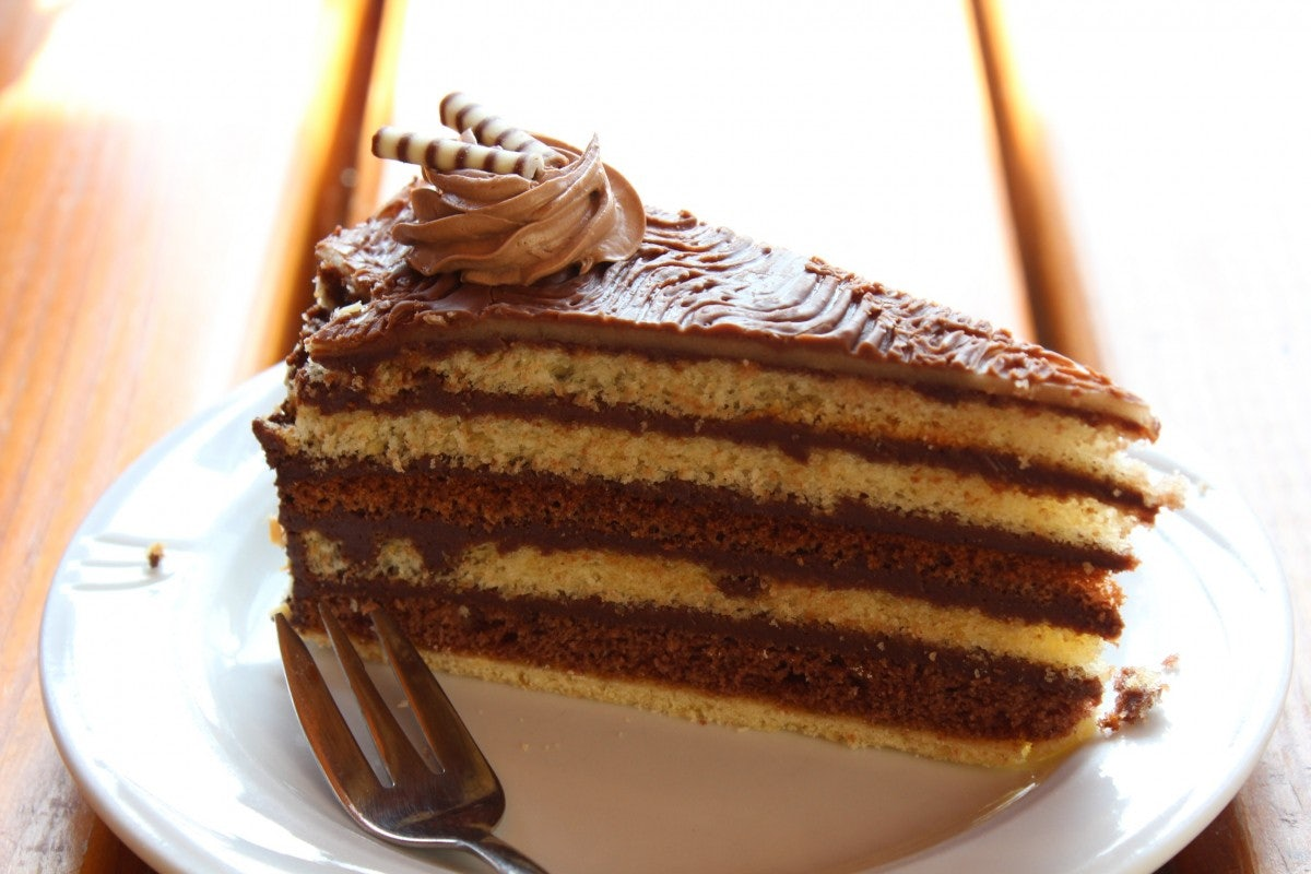 traditional Hungarian Dobos Cake