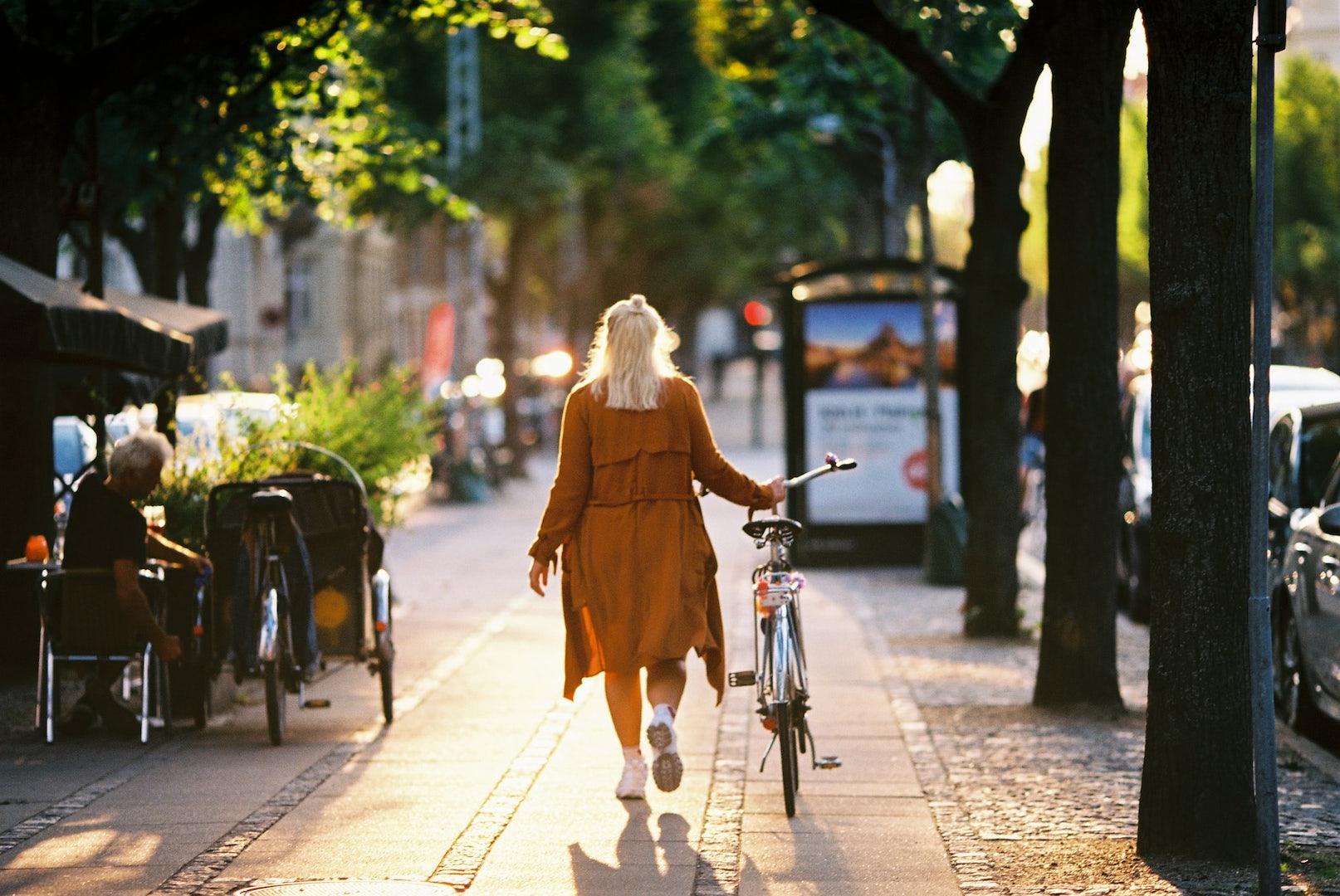 a girl walking around in Frederiksberg