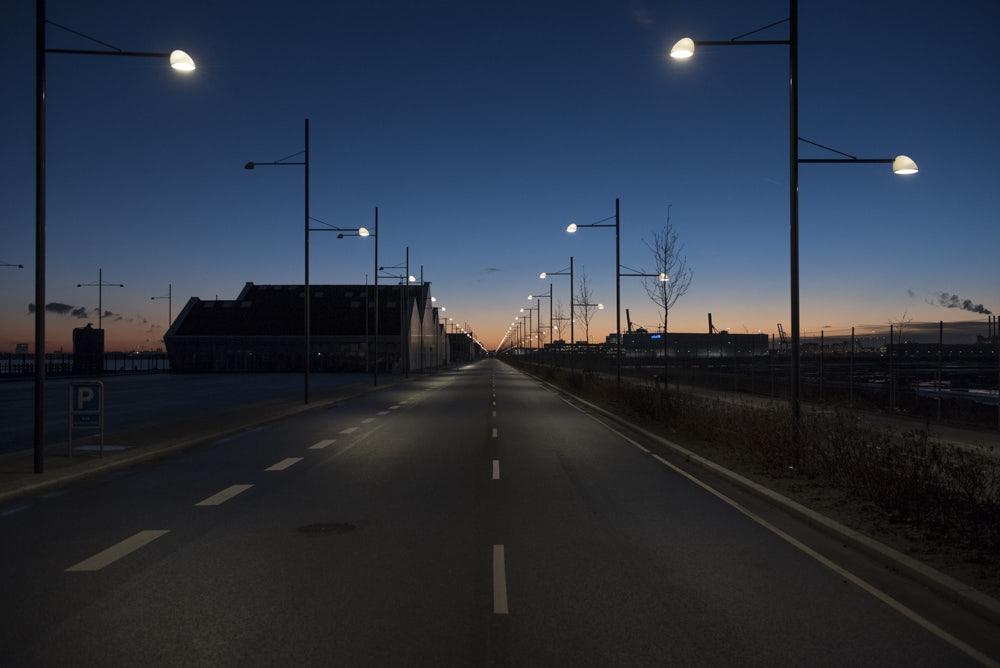 Nordhavn neighbourhood during the night