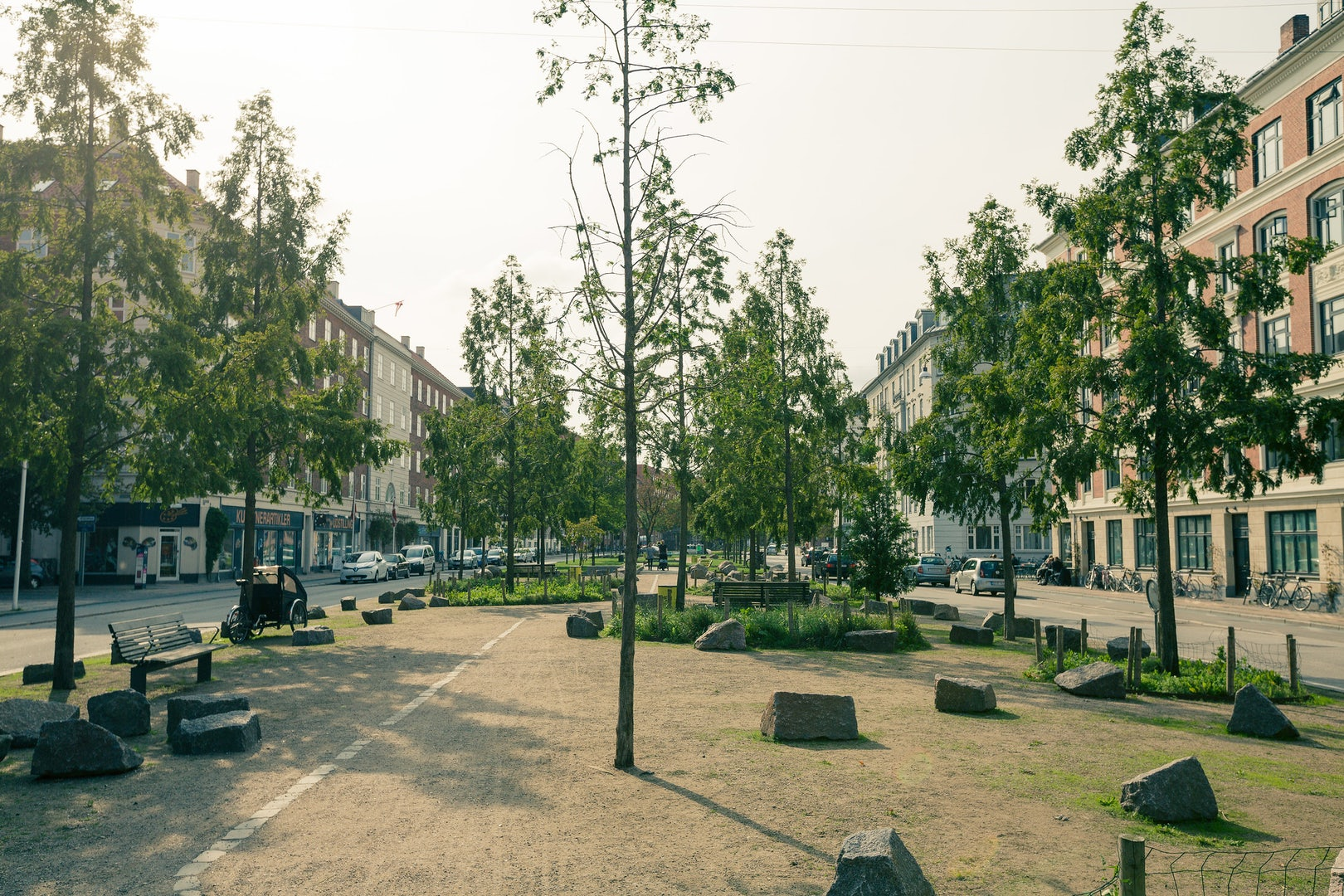 Sønder Boulevard during a sunny day