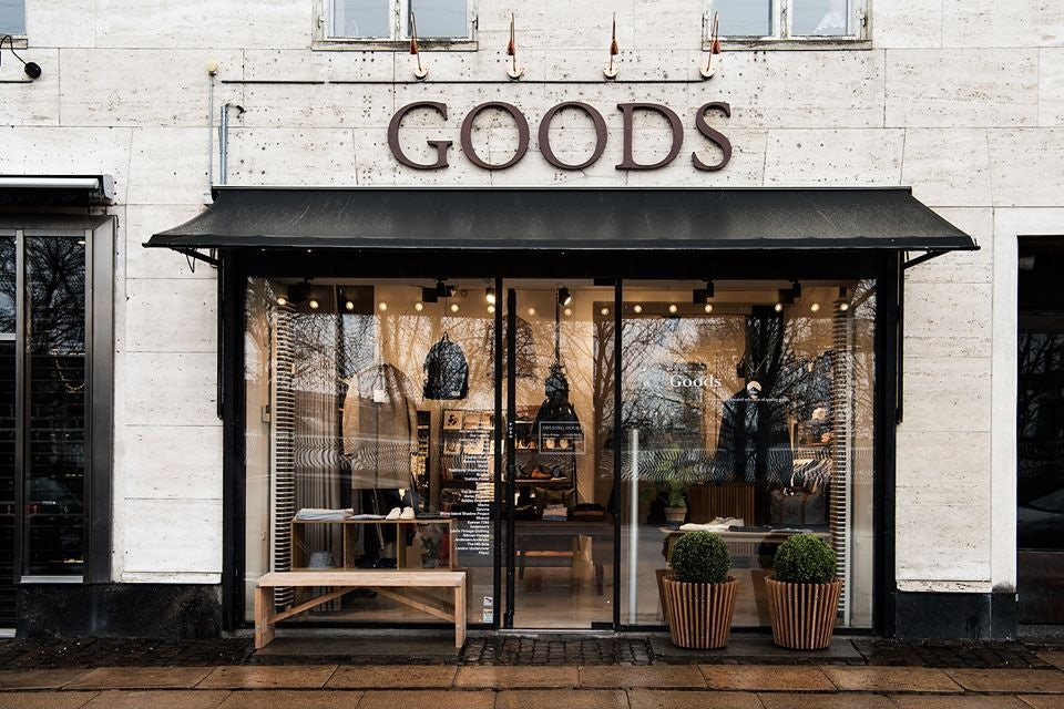Goods men's fashion store in Copenhagen