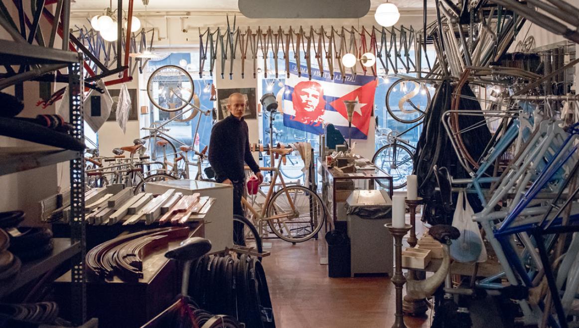 Sögreni bike store in Copenhagen