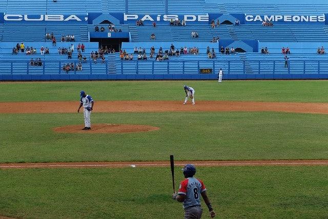 a baseball game in Estadio Latinoamericano