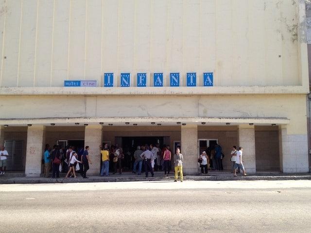 front side of Cine Infanta