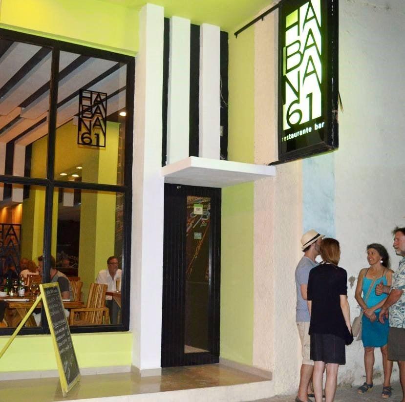 exterior of Habana 61 restaurant