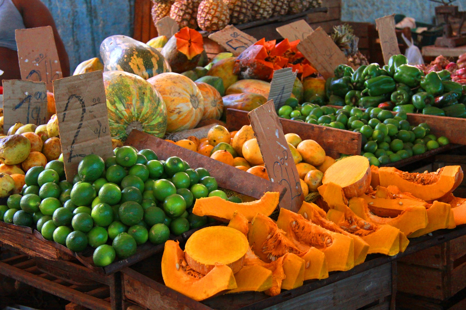 fruits at a street market in Havana