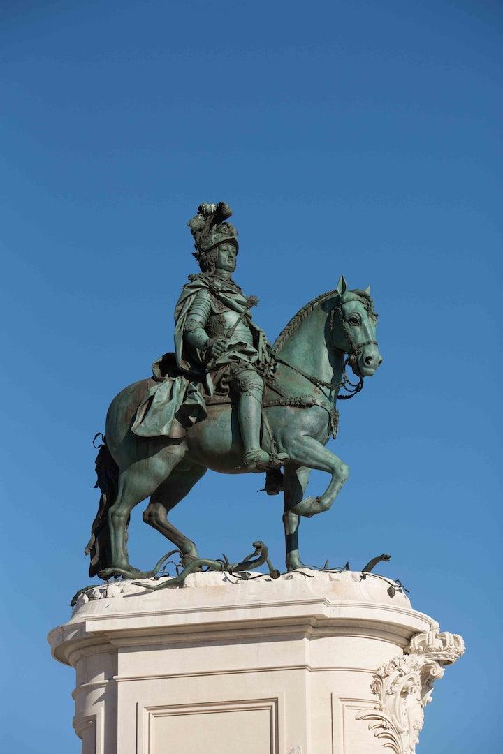 D. José I statue in Lisbon