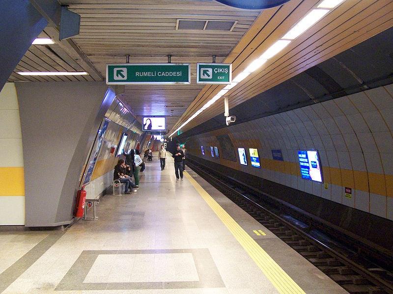Osmanbey Metro Stop in Istanbul