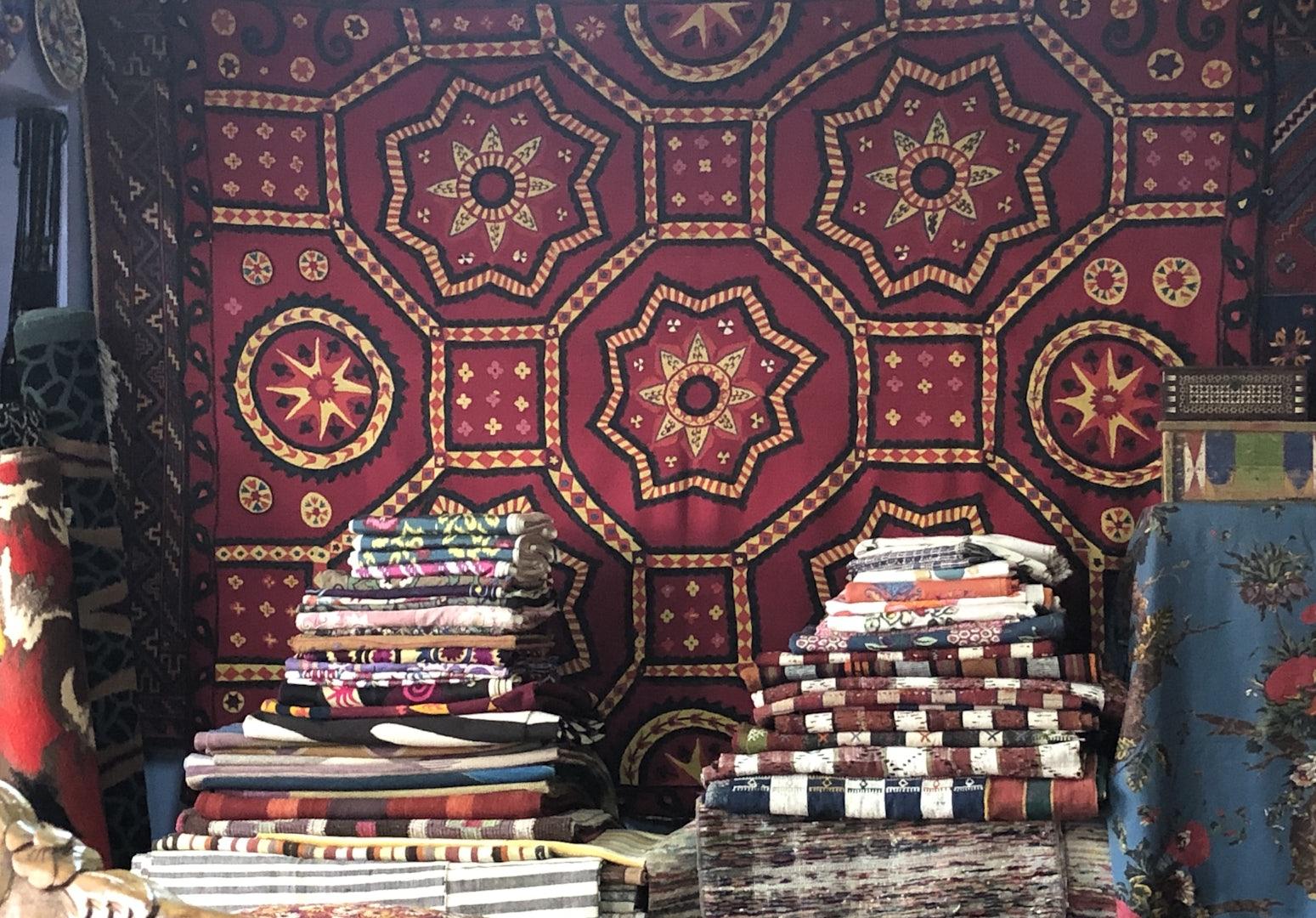 turkish textiles with detailed design at Karavan Istanbul