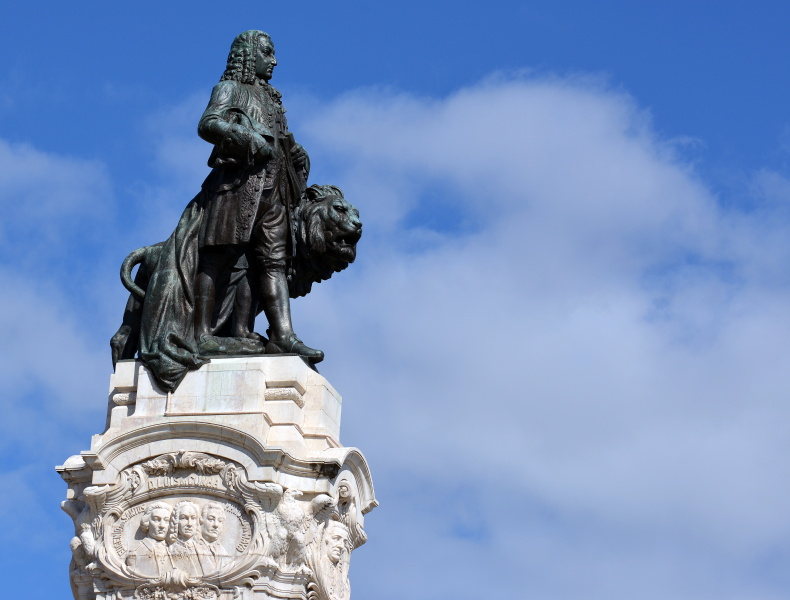 statue of the Marquês de Pombal in Lisbon