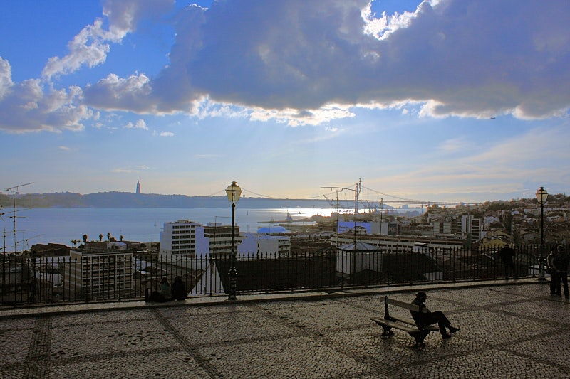 Santa Catarina viewpoint in Lisbon
