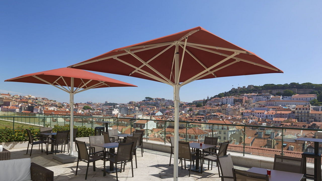 terrace and view at Hotel do Chiado rooftop
