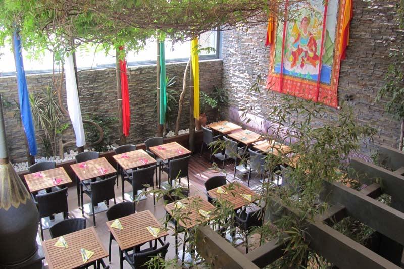 terrace at Tibetanos restaurant