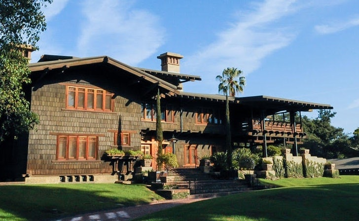 exterior of the Gamble House