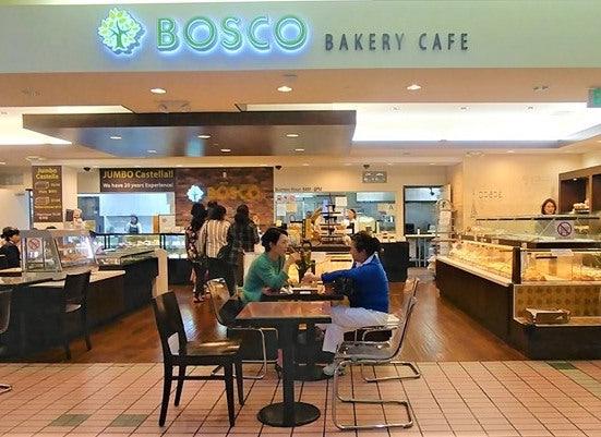 people eating at bakery LA
