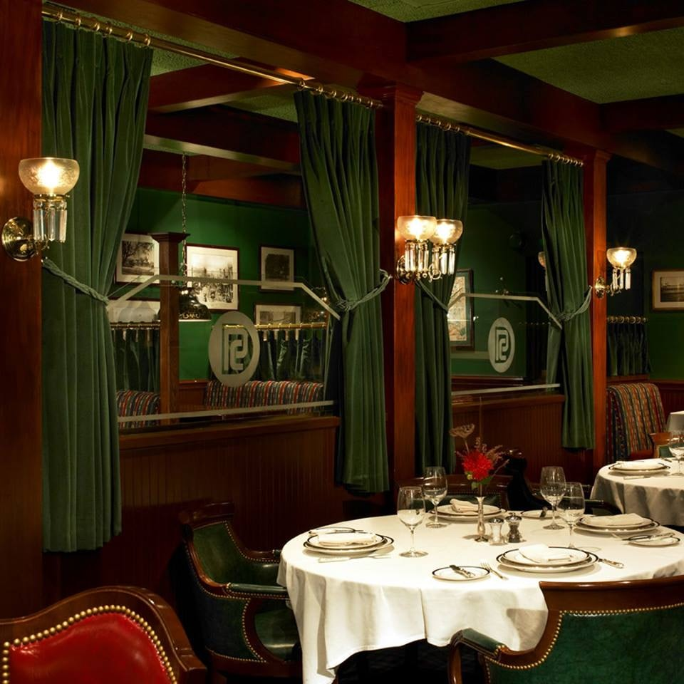 interior of the Pacific Dining Car in LA