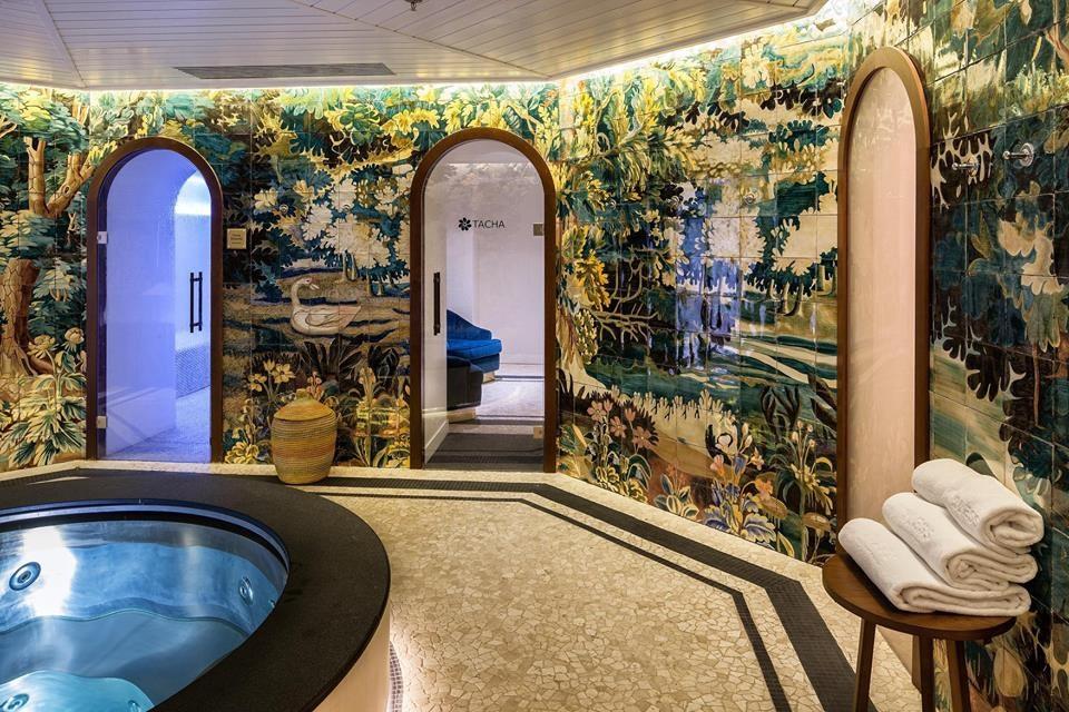 interior of Tacha Spa, bathing area