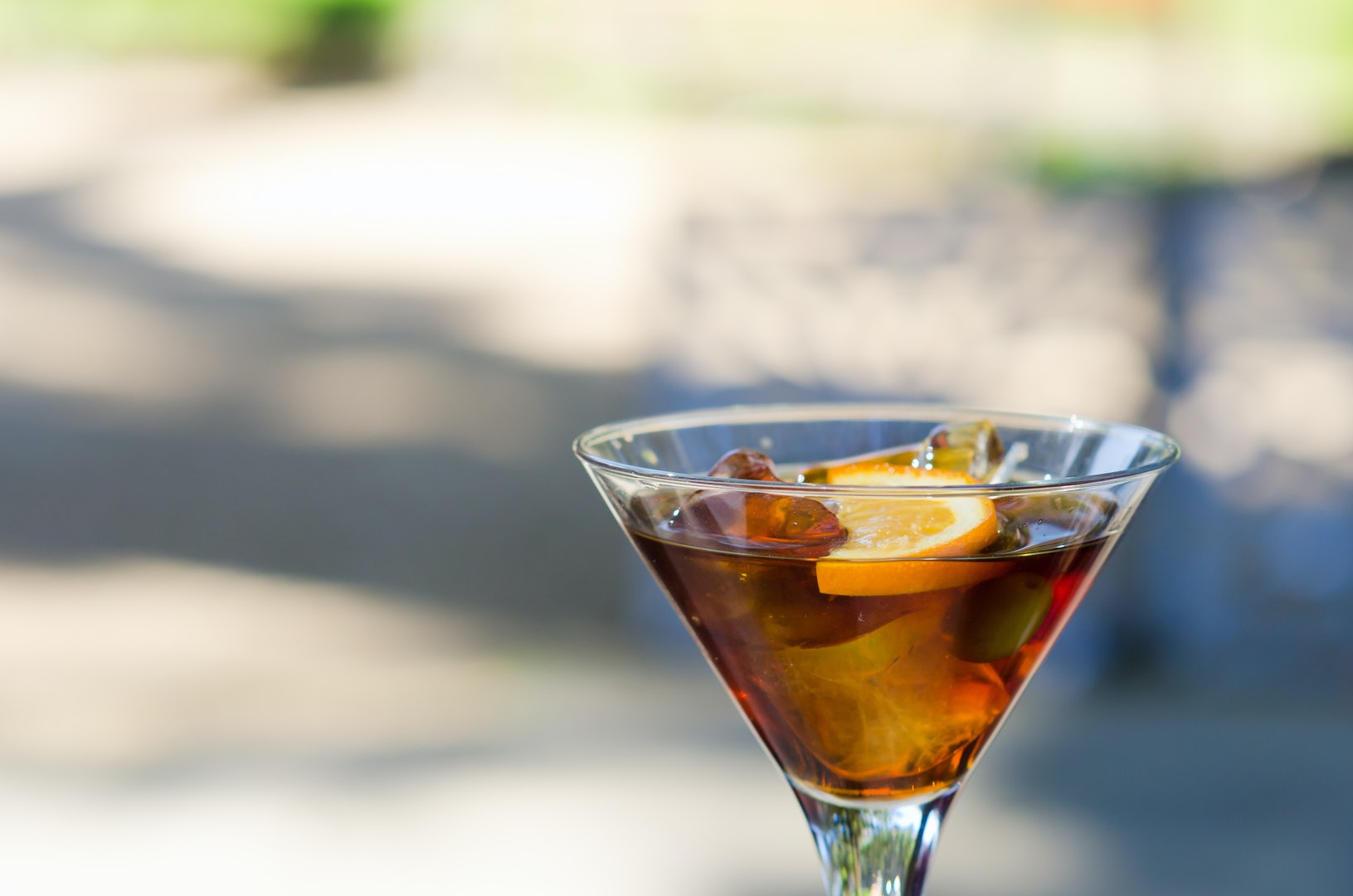 a glass of Vermut