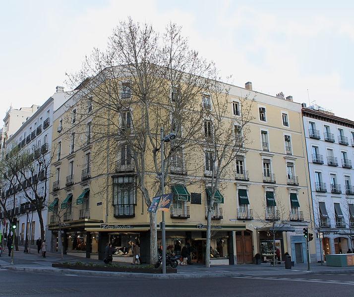 a corner building on Calle Serrano