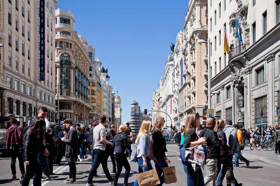 Gran Vía in Madrid