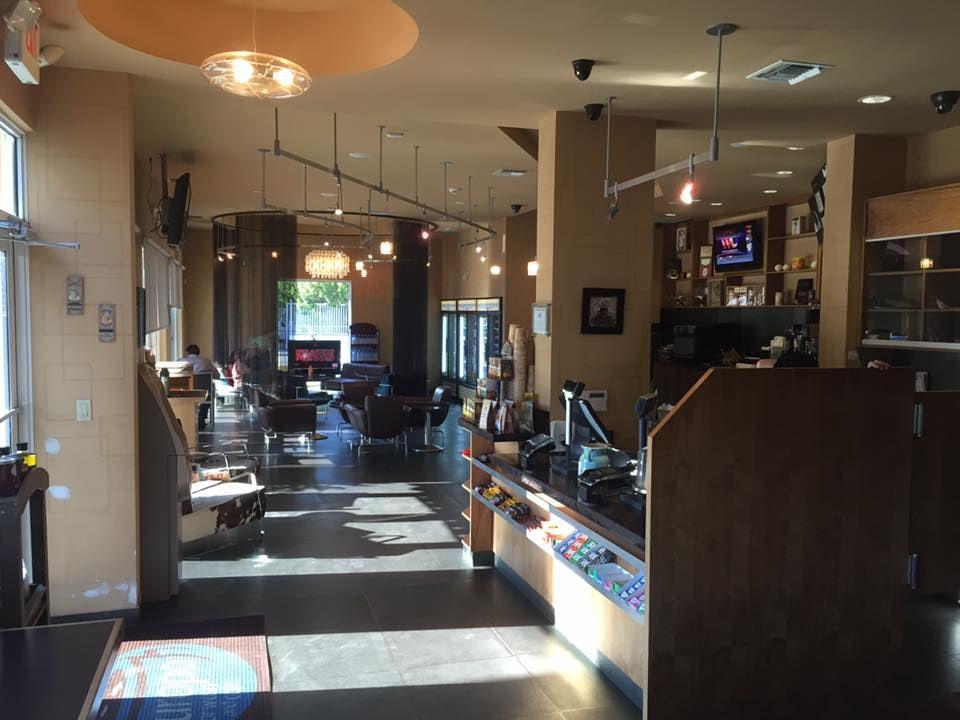 Coffee bar at Europa Car Wash cafe