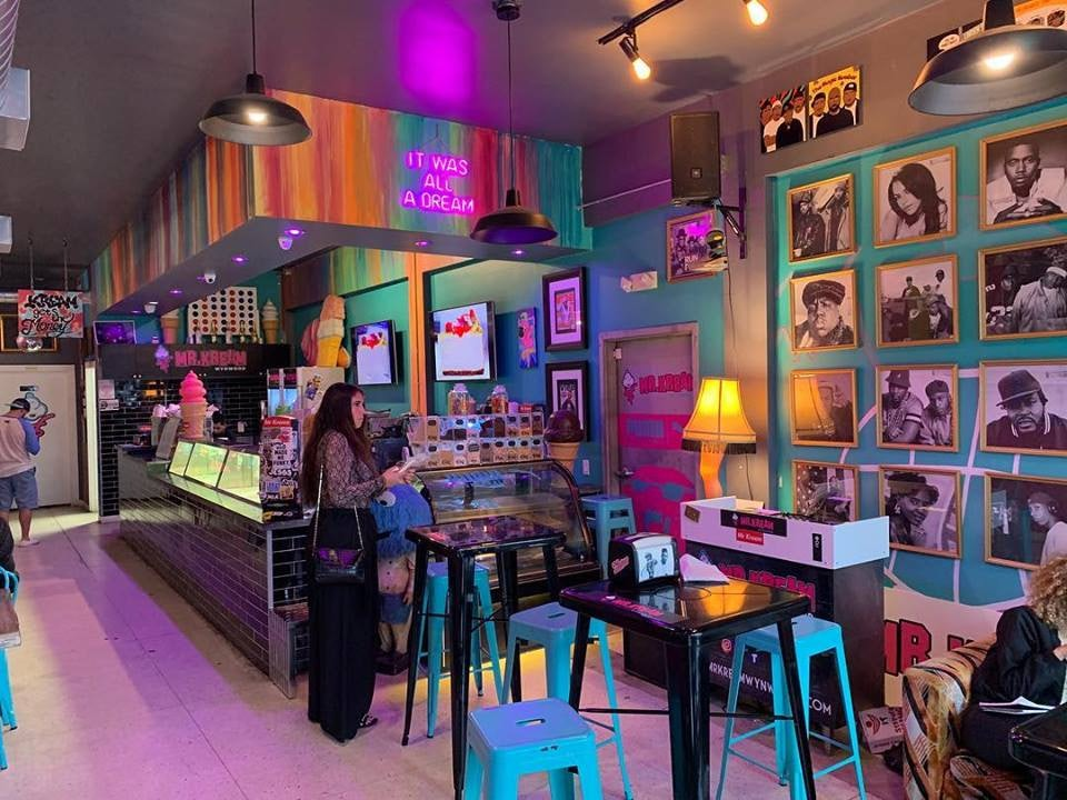 colorful interior of Mr. Kream Wynwood