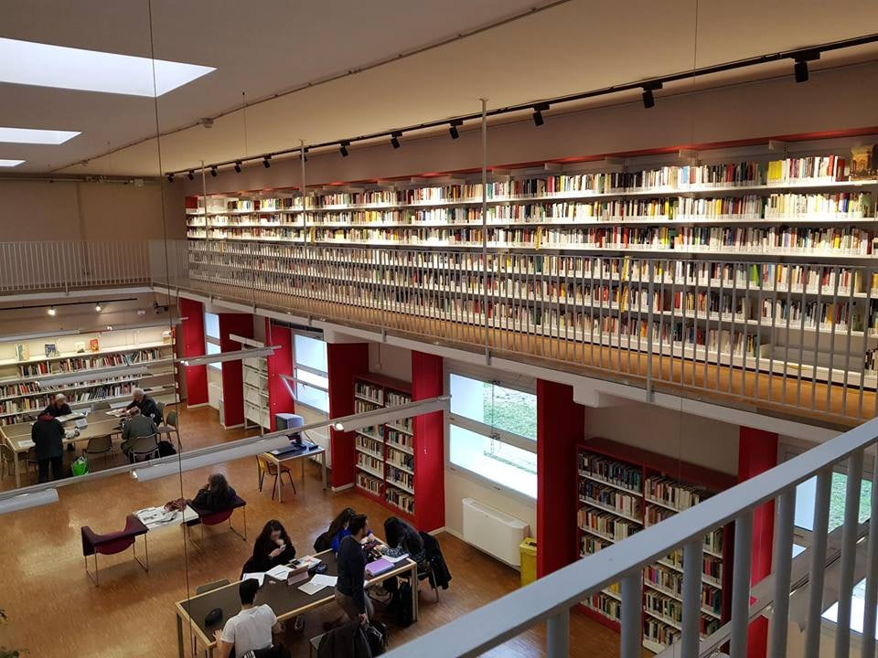 A reading room at the Public Library of Milan
