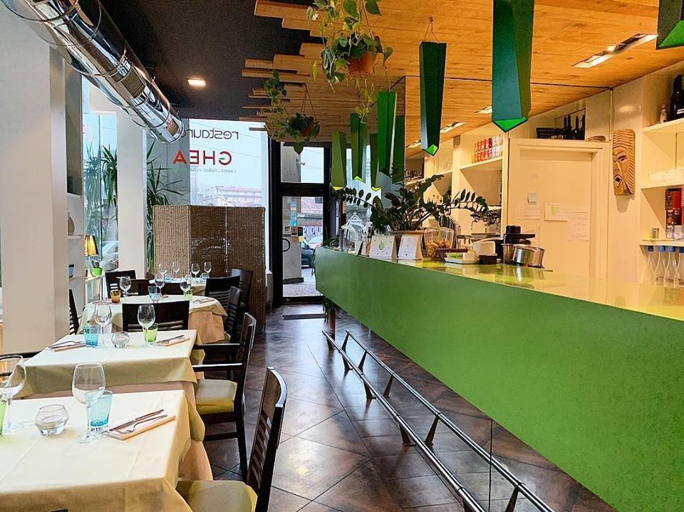 interior of vegetarian restaurant Ghea
