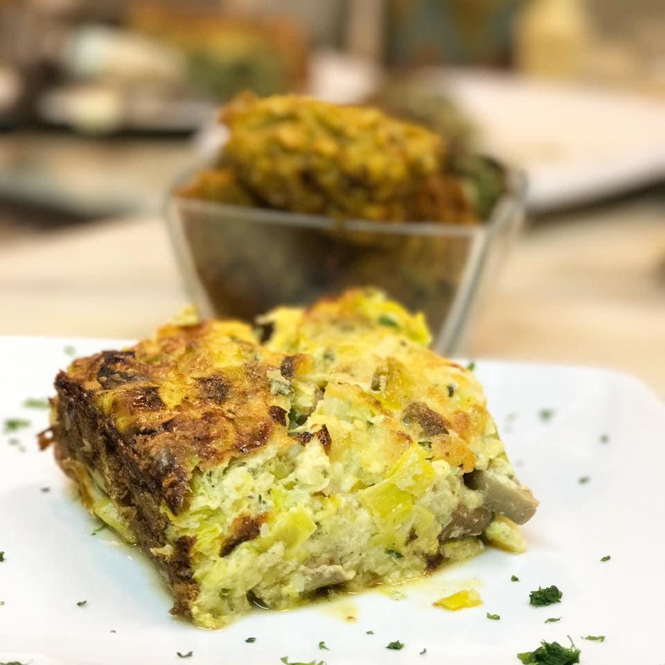 vegetarian dish from La Vecchia Latteria