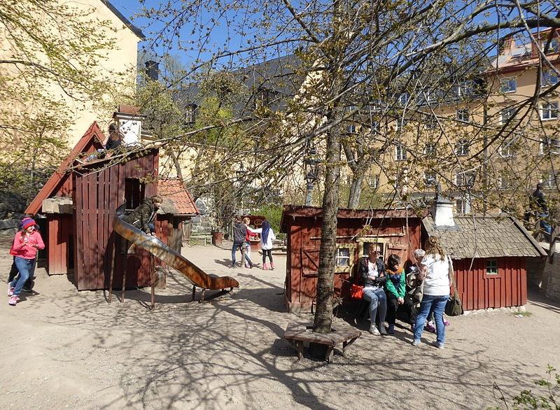 Bryggartäppan playground in Stockholm