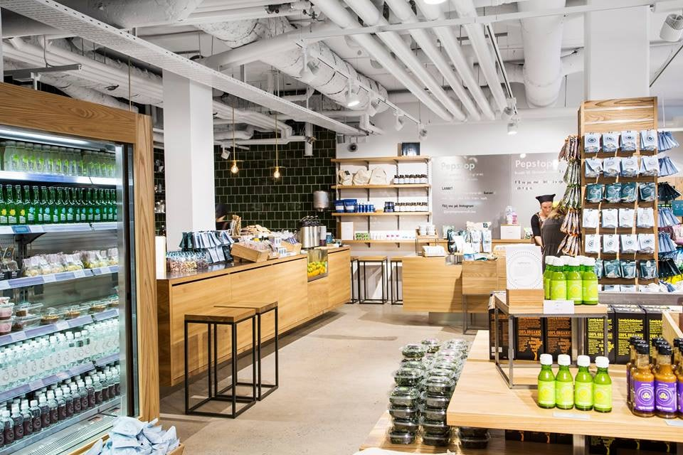 interior of Pepstore vegan store