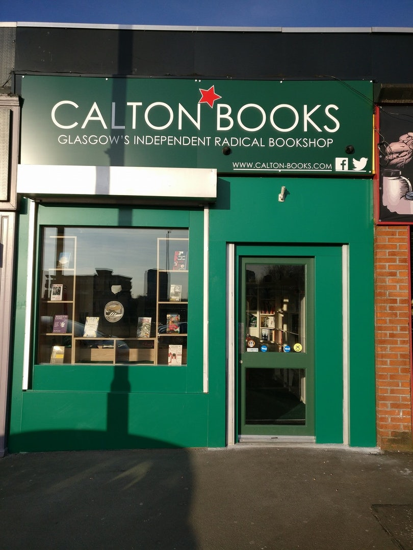 Calton Books storefront in Glasgow