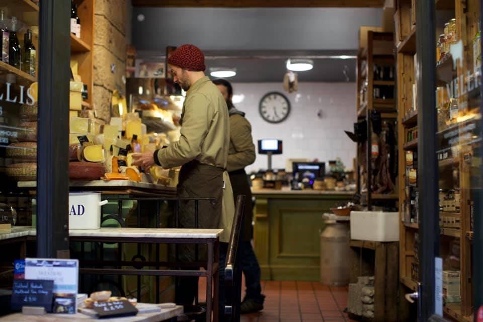 cheeses at I.J. Mellis store in Edinburgh