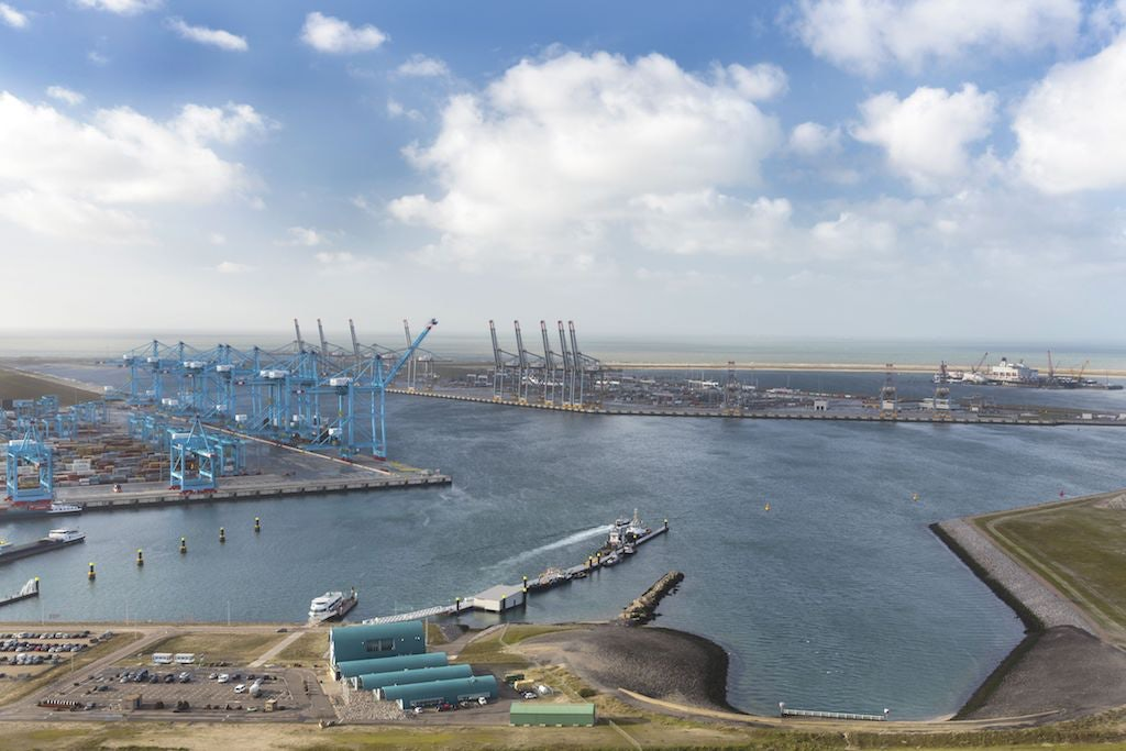 aerial view of Port of Rotterdam