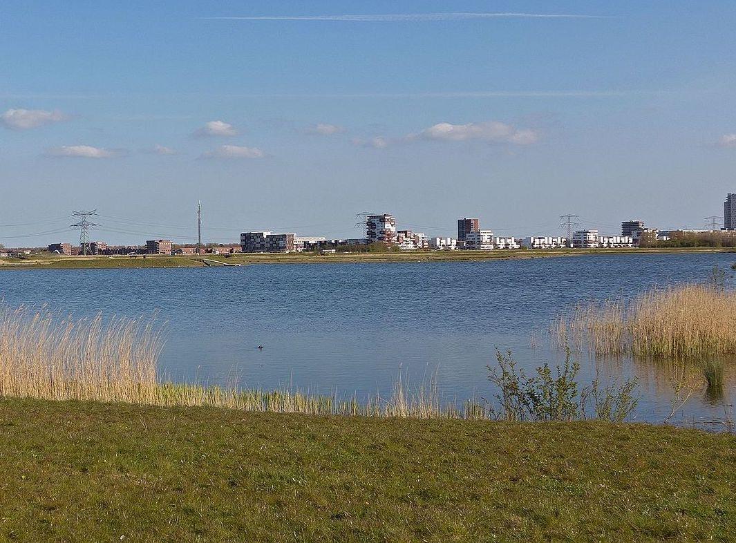 Zevenhuizerplas near to Rotterdam city