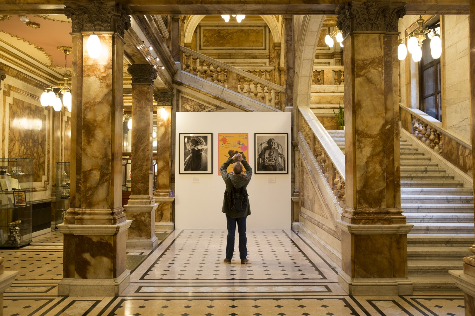 a man standing in the Glasgow City Chambers in Scotland