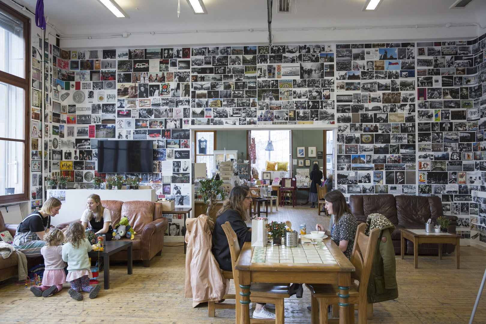 interior full of photograph at the Summerhall Edinburgh art space