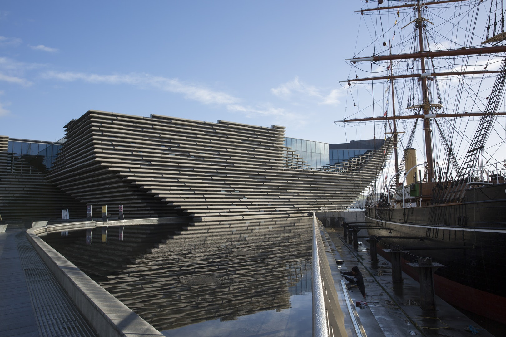 Exterior of the v&a dundee design museum in Scotland