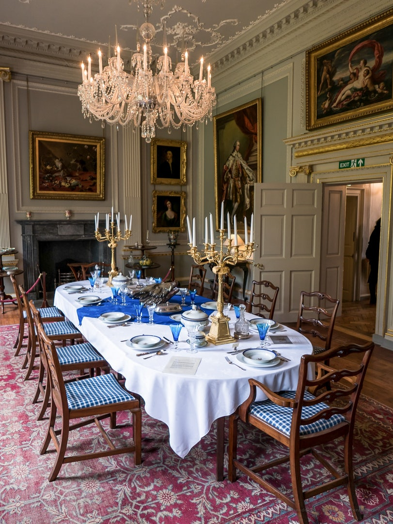 Duff House manor dining room in Banff