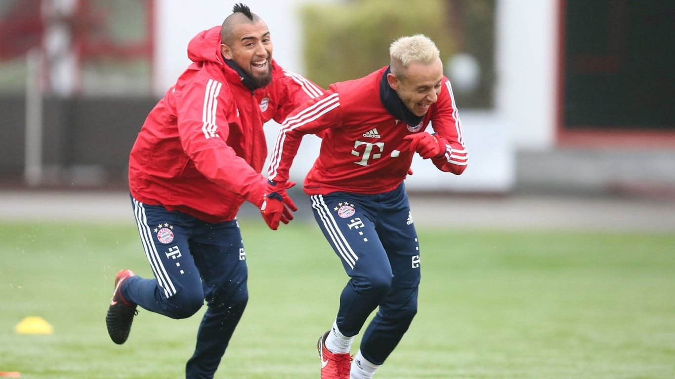 a Bayern training session