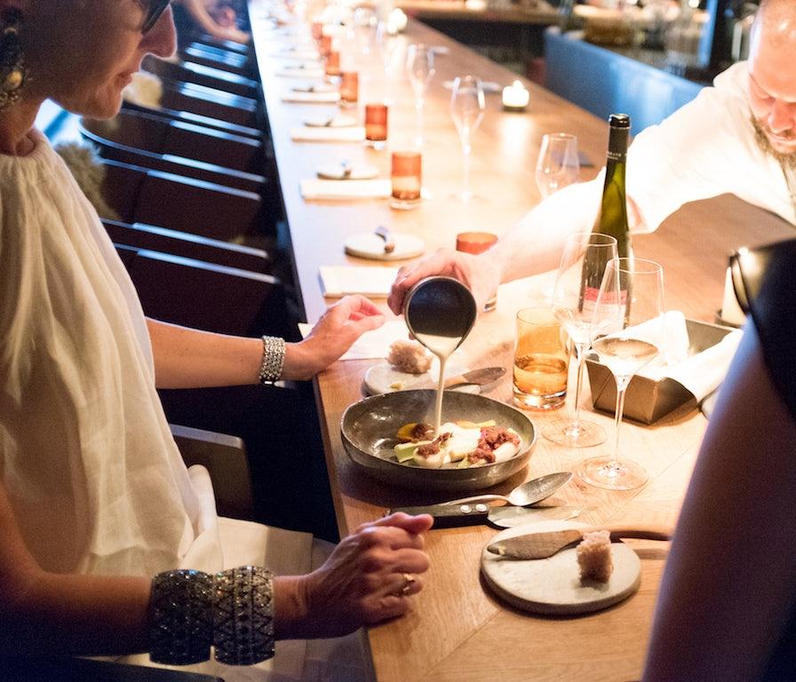 woman dining at Nobelhart & Schmutzig