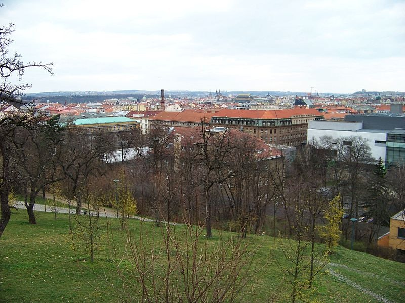 Sacré Coeur park in Prague