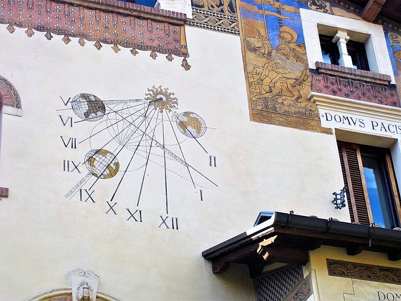 Sundial of Coppede in Rome