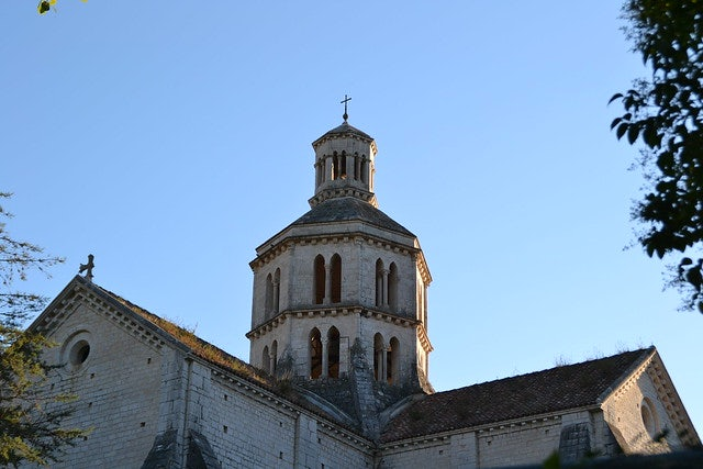exterior of bell tower of the Fossanova abbey