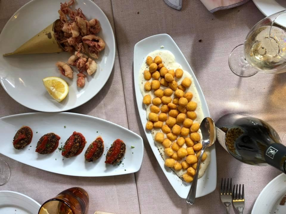Italian cuisine from trattoria da Cesare in rome